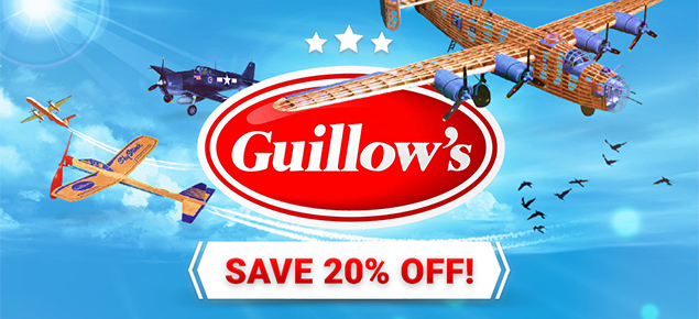 Save 20% off Guillows kits!