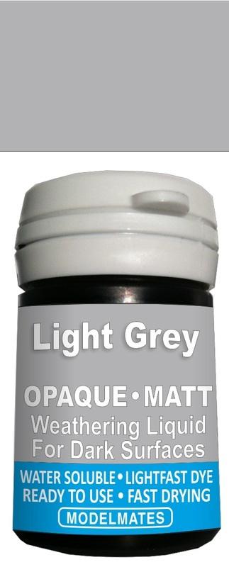 Modelmates: Opaque Weathering Liquid - Light Grey
