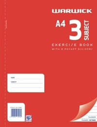 Warwick Spiral A4 75lf 3 Subject Exercise Book