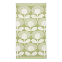 Orla Kiely Speckled Flower Oval Face Towel - Pistachio
