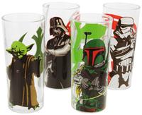 Star Wars Characters Glass Tumbler Set (295ml)