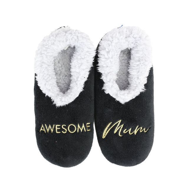 Slumbies: Awesome Mum - Womens Slippers (Small)