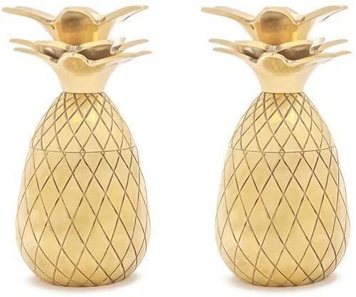 W&P: Pineapple Shot Glass - Gold (Set of 2)