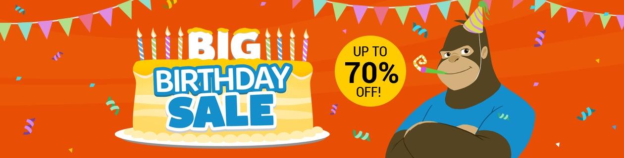 8th Birthday Sale