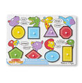 Melissa & Doug: Shapes Wooden Peg Puzzle
