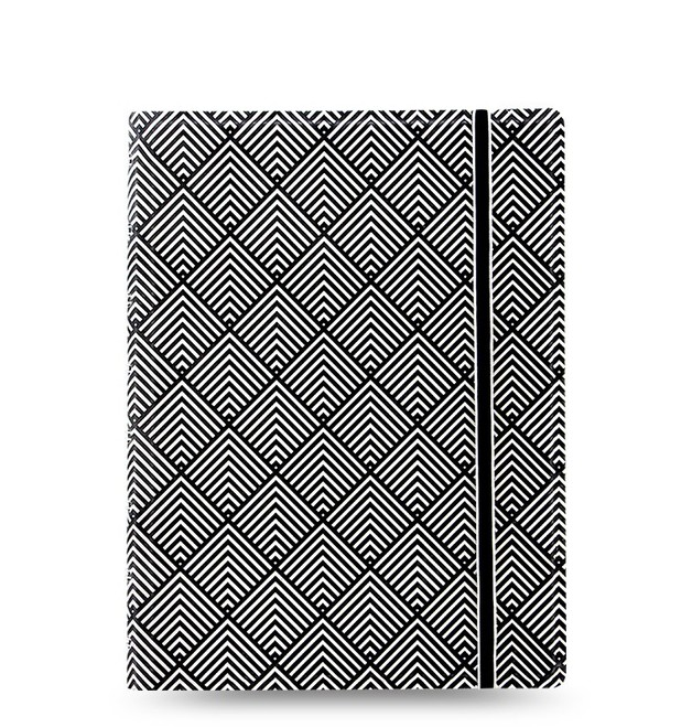 Filofax: A5 Impressions Notebook - Black/White Deco