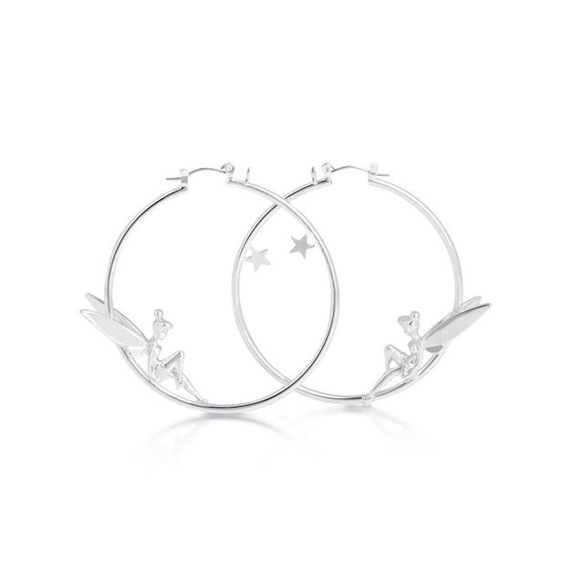 Couture Kingdom: Disney Silver Tinker Bell Hoops- White Gold