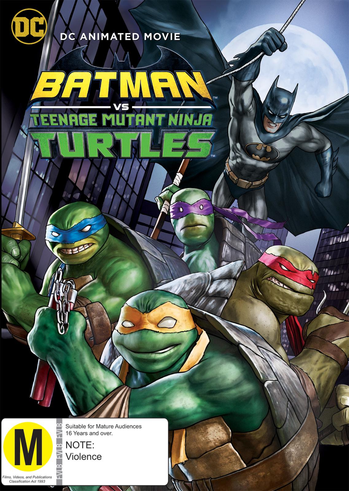 DC Batman vs Ninja Turtles on DVD image