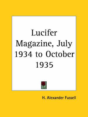 Lucifer Magazine VI-VII (1934) image