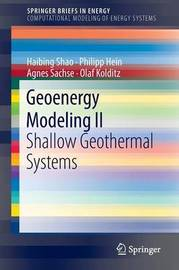 Geoenergy Modeling II by Agnes Sachse