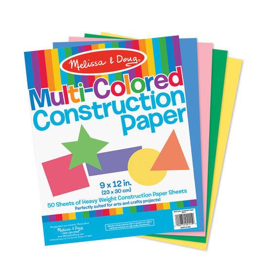 Melissa & Doug: Multi-Colour Construction Paper