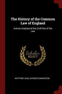 The History of the Common Law of England by Matthew Hale image