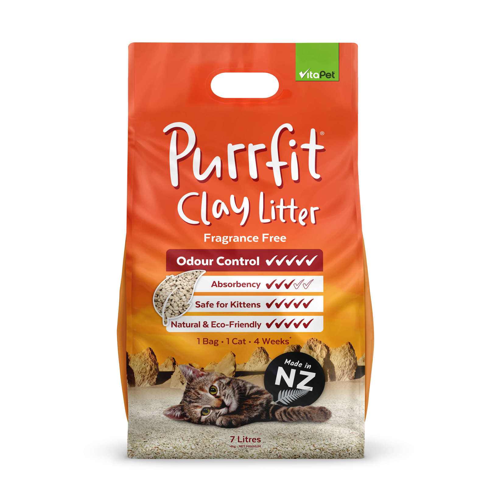 Vitapet: Purrfit Clay Litter (7L) image