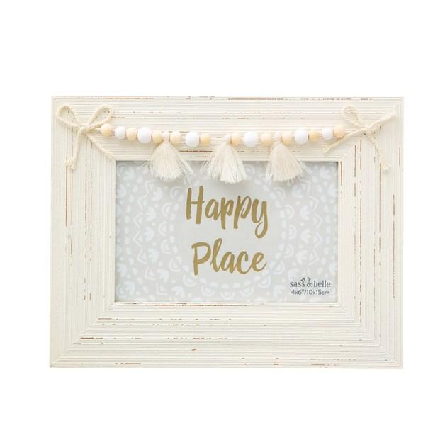 Sass & Belle: White Tassel Photo Frame