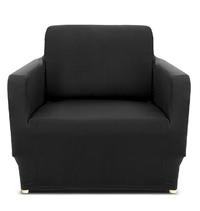 Ovela: 1 Seater Sofa Cover Stretch - Black