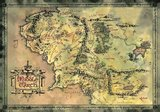 Metallic Foil Middle Earth Poster (305)
