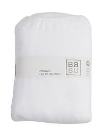 Babu: Organic Fitted Bottom Cotton Cot Sheet (White)