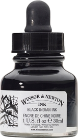 Winsor & Newton: Drawing Ink - Black 030 (14ml)