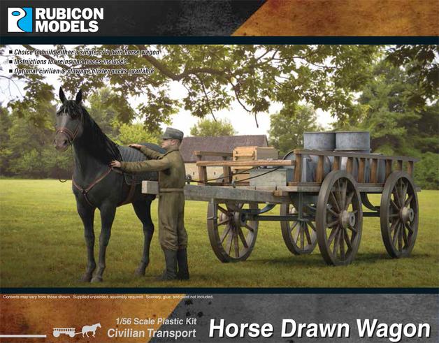 Rubicon 1/56 Horse Drawn Wagon