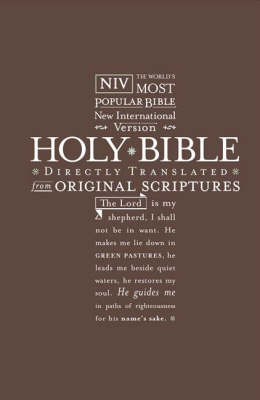 NIV Pocket Bible Brown by International Bible Society image
