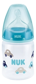 NUK: First Choice - Polypropylene Bottle (150ml) - Blue Cars