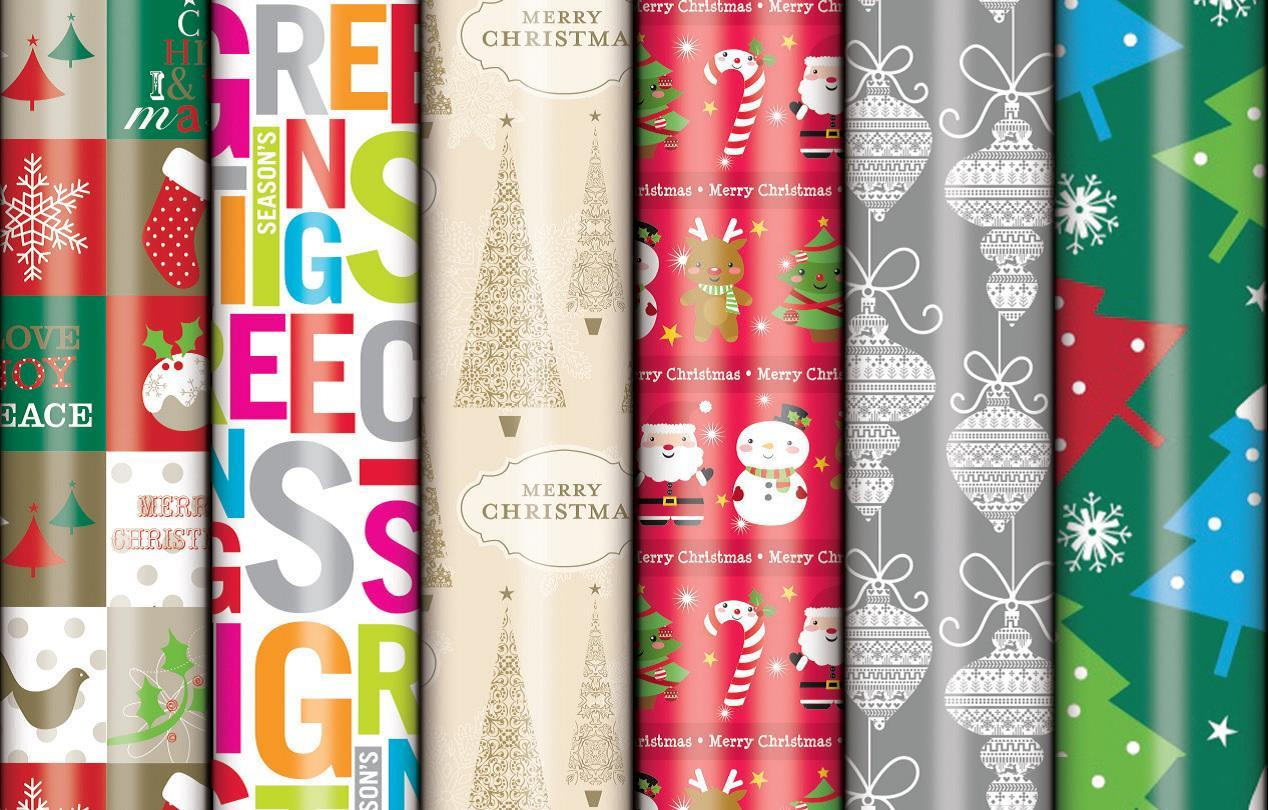 Christmas Wrap Value Roll - Gloss (3M x 700mm) image