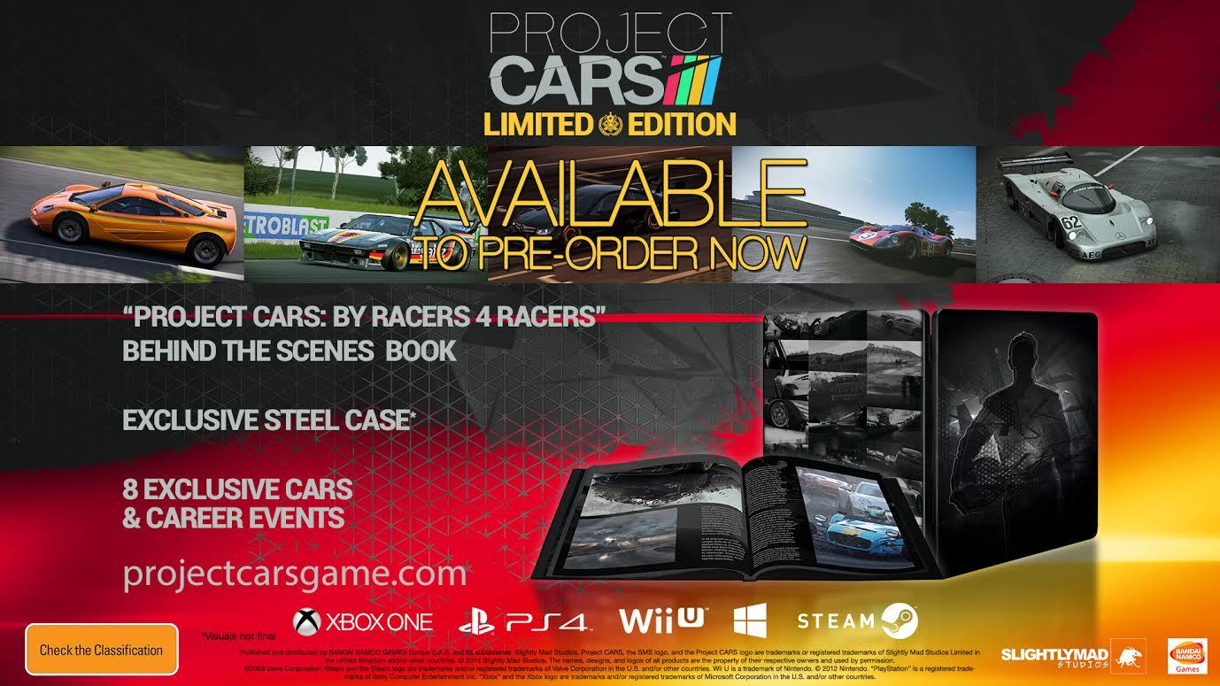 project cars anz limited edition pc game buy now at mighty ape nz. Black Bedroom Furniture Sets. Home Design Ideas