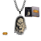 Star Wars Steel Etched Chewbacca Pendant Necklace