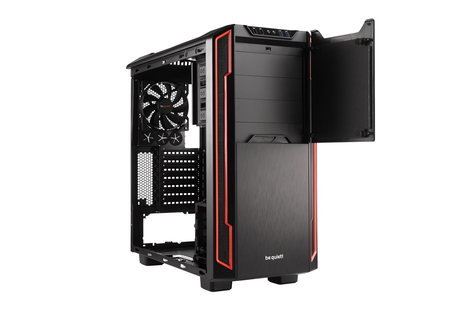 Be Quiet! Silent Base 600 Windowed - Red image