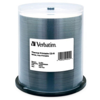 Verbatim CD-R 700MB 52x White Wide Thermal - 100 Pack