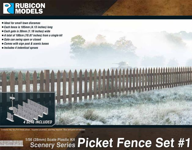 Rubicon 1/56 Picket Fence Set