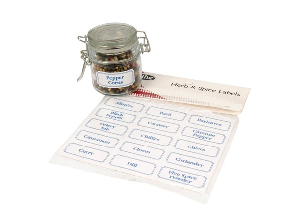 Herb & Spice Canister Labels