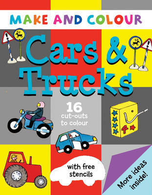 Make and Colour Cars and Trucks by Clare Beaton image