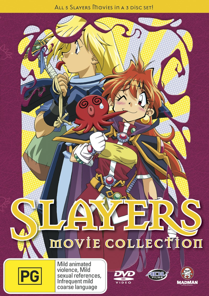 Slayers Movie Collection (3 Disc Set) on DVD image