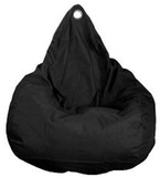 Beanz Big Bean Indoor/Outdoor Bean Bag Cover - Black