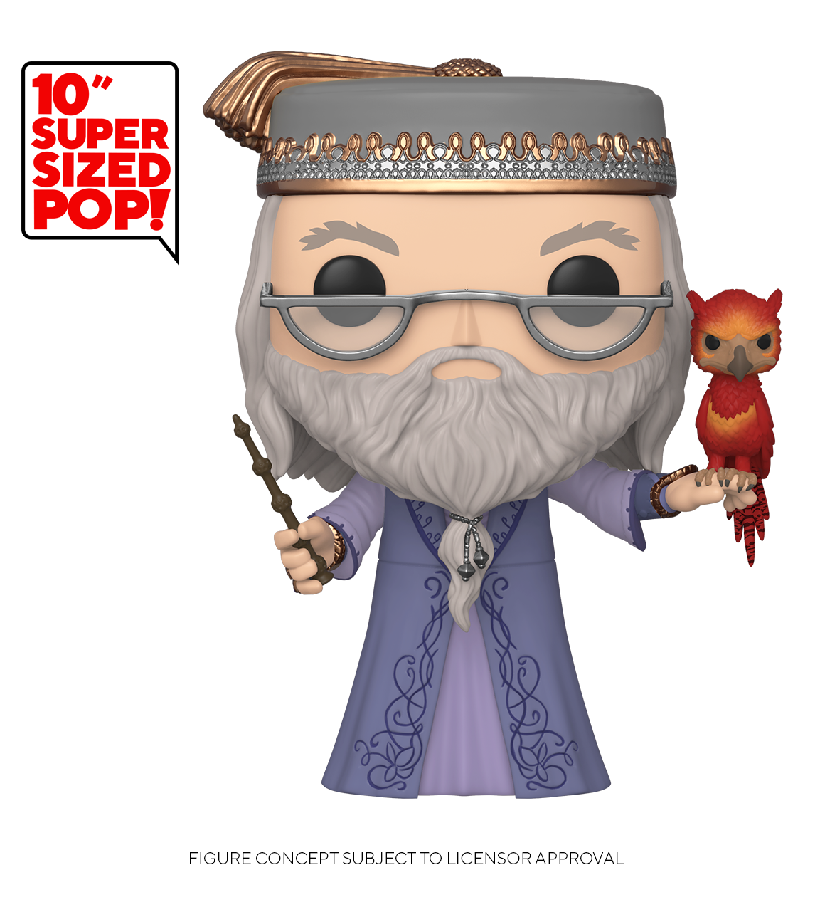 """Harry Potter: Dumbledore (with Fawkes) - 10"""" Super Sized Pop! Vinyl Figure image"""