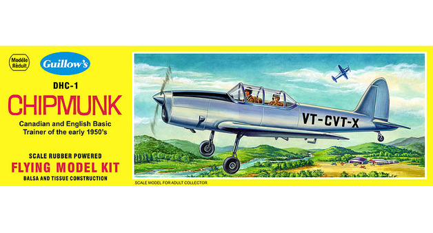 D.H. Chipmunk 1/24 Balsa Model Kit