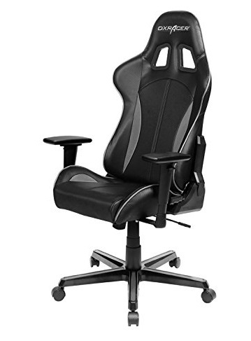 DXRacer Formula Series FH57 Gaming Chair (Black and Grey