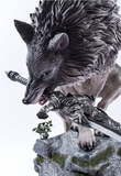 "Dark Souls - Sif the Great Grey Wolf 25"" Statue"