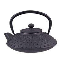 Cast Iron Teapot - Hobnail Black (500ml)