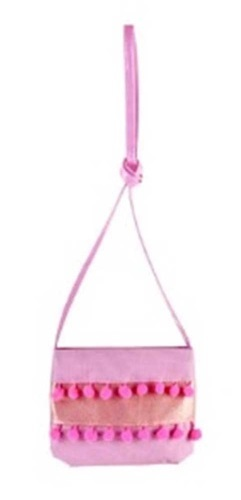 Pink Poppy: Pom Pom Party Shoulder Bag - Lilac