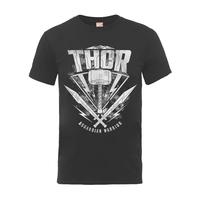 Thor Ragnarok: Thor Hammer Logo T-Shirt (Large)