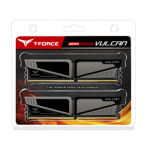 2x8GB T-Force Vulcan - Grey 2400Mhz DDR4 RAM image
