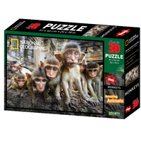 Super 3D: 500-Piece Jigsaw Puzzle - Monkeys