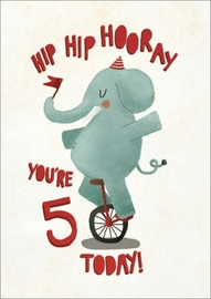 Oh Deer: Birthday Elephant 5th Birthday Greeting Card