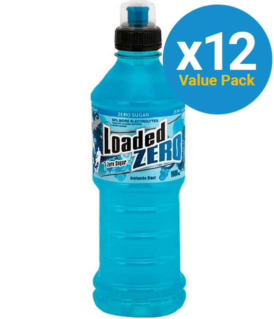 Loaded Sports Drink - Zero Avalanche Blast 1L (12 Pack) image