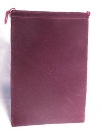 Suede Cloth Dice Bag (Large, Burgundy) image