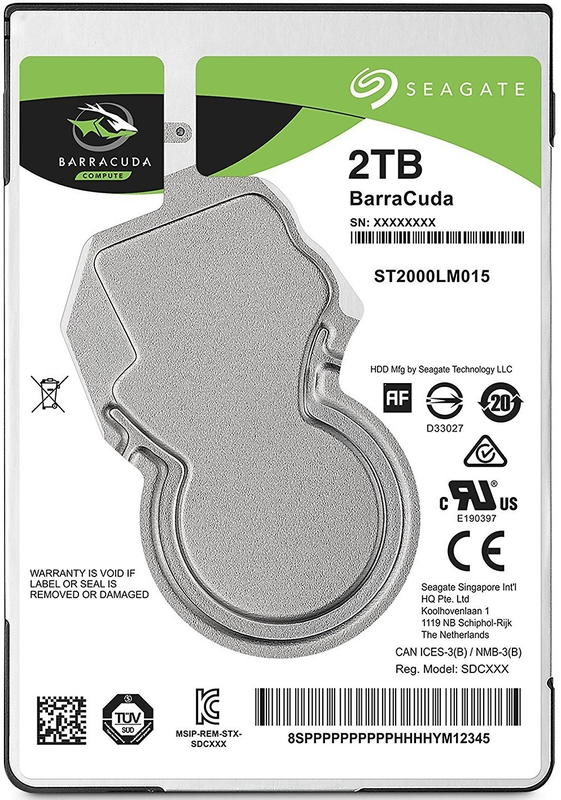"2TB Seagate BarraCuda 2.5"" 5400RPM SATA HDD"