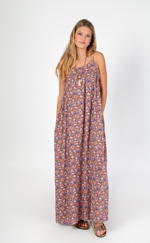 Natural Life: Maxi Dress - Dusty Rose Print (Large)