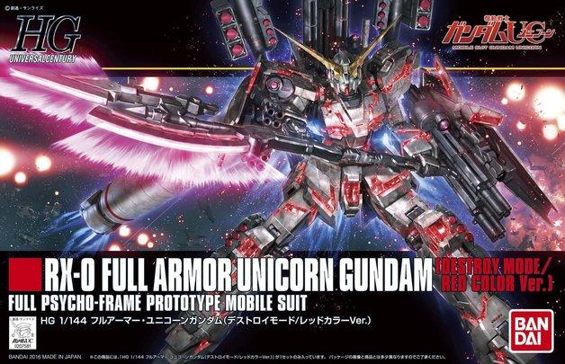 HGUC 1/144 Full Armor Unicorn Gundam (Red Destroy Mode) - Model Kit